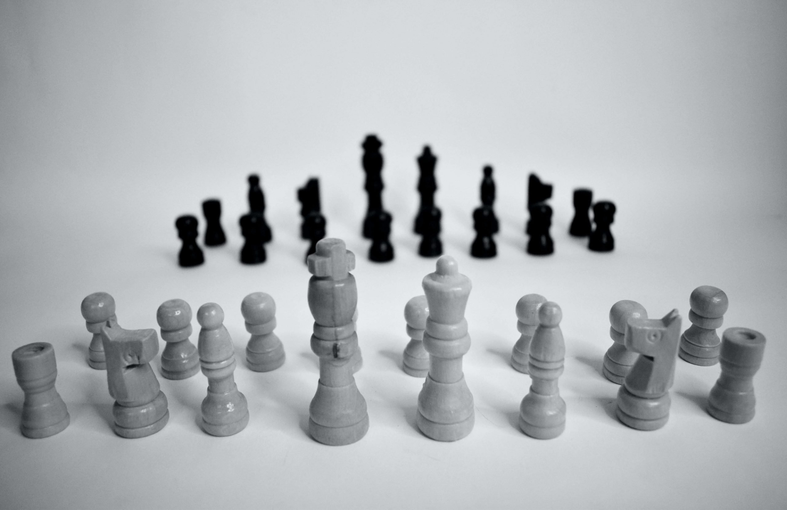 chess set ready to compete